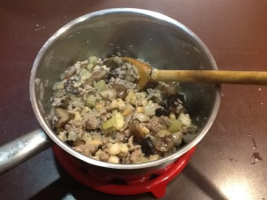 Pork, chestnut and prune stuffing